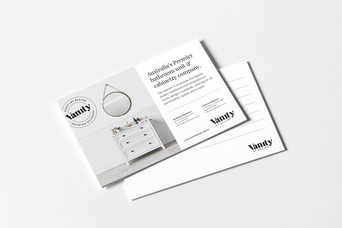 Vanity by Design Postcard mockup 1
