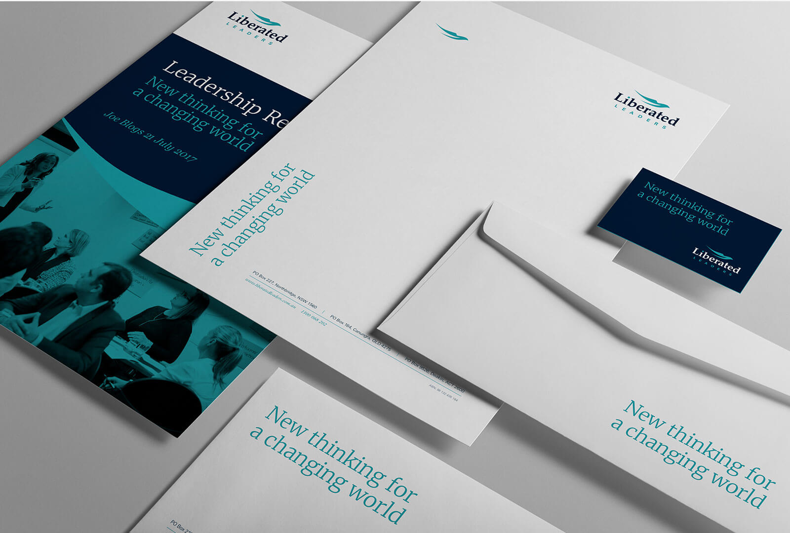 Liberated Leaders brand identity design 03