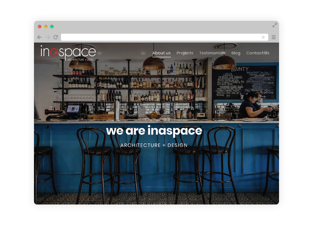 Inaspace is an Architecture and Design Firm with a Responsive Website Built by a Brisbane Design Agency